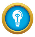 on switch bulb light icon blue isolated vector image