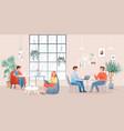people work or study in creative modern coworking vector image