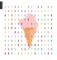 Pink Ice cream in a cone and pattern