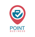 point business logo vector image vector image