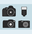 professional dslr photo camera set icon design vector image