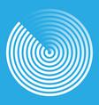 radar abstract icon symbol vector image