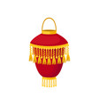 red chinese paper street lantern decorative vector image vector image