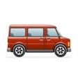 Retro Van Car Icon Isolated Realistic 3d Design vector image vector image