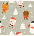 santa and arctic animal editable line detail in vector image vector image
