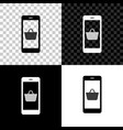 set mobile phone and shopping basket icon isolated vector image vector image