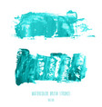 set of turquoise blue oil painted texture vector image vector image
