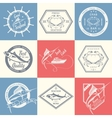 set seafood labels and signs vector image