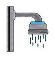 shower faucet open vector image