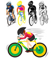 Sport icon for man doing cycling vector image vector image
