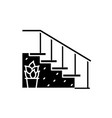 staircase at the entrance black icon sign vector image