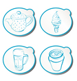 stylish doodle icons vector image vector image