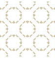 subtle golden seamless pattern abstract ornament vector image vector image