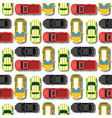 top view colorful car toys seamless pattern vector image