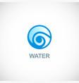 water circle logo vector image vector image
