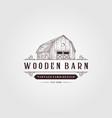 wooden barn logo vintage design vintage farm logo vector image vector image