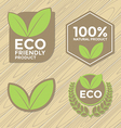 Eco friendly label set vector image