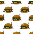 seamless pattern with unhealthy food burger vector image