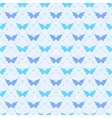 Seamless pattern with bitterflies vector image