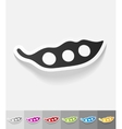 realistic design element pea pod vector image