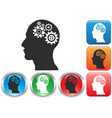 gear head button icons vector image