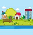 a simple rural village vector image