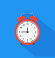 alarm clock icon with long shadow flat design vector image