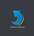 arrow sign business finance logo vector image