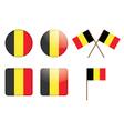 badges with flag of Belgium vector image vector image