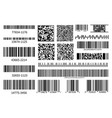 barcodes collection code information qr vector image