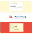 beautiful cloud setting logo and business card vector image vector image
