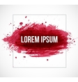 Big dark red splash on white background vector image vector image