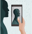 biometric identification facial recognition system vector image