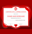 blood donation charity certificate donor day heart vector image
