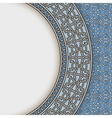 Blue china plate vector image vector image