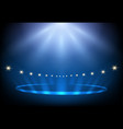 blue stage lighting vector image