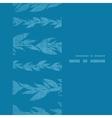 Blue vines stripes textile textured vertical frame vector image vector image