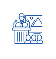 business speaker line icon concept business vector image vector image