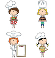 cartoon female chefs vector image