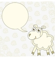 Cartoon sheep congratulates vector image