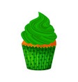 cartoon style of sweet cupcake vector image vector image