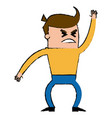 character businessman angry office worker pose vector image