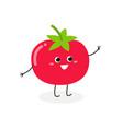 cheerful cartoon tomato vector image
