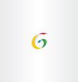 colorful letter g spiral sign logo vector image vector image