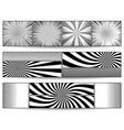 comic monochrome horizontal banners vector image