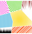comic vivid colorful composition vector image vector image