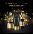 cosmetic products brand design vector image vector image