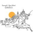 ermoupoli syros island greece vector image