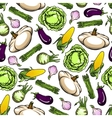 Farm vegetables seamless wallpaper background vector image vector image