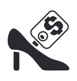 fashion shoe icon vector image vector image